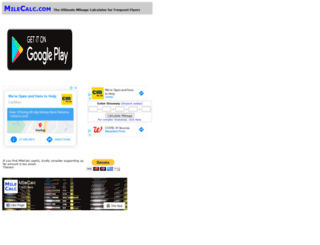 milecalc.com screenshot