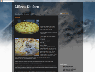 mileesdinnerssuch.blogspot.com screenshot