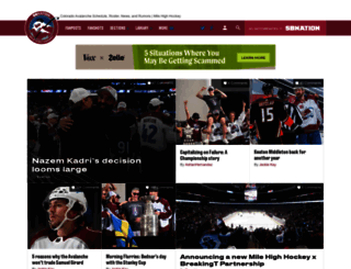 milehighhockey.com screenshot