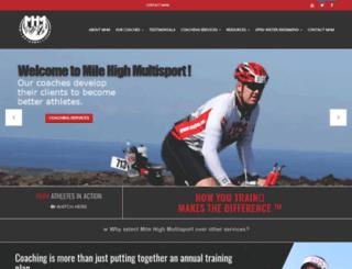 milehighmultisport.com screenshot