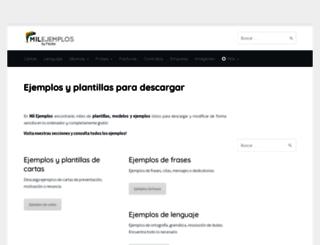 milejemplos.com screenshot