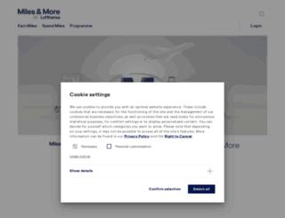 miles-and-more.com screenshot