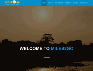 miles2go.co.in screenshot