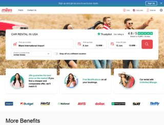 milescarrental.com screenshot