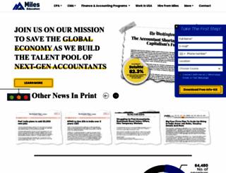 mileseducation.com screenshot