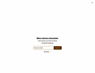 milesinteriors.net screenshot