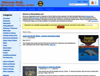 milestonebooks.com screenshot