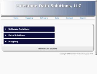 milestonedata.com screenshot