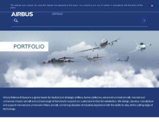 militaryaircraft-airbusds.com screenshot