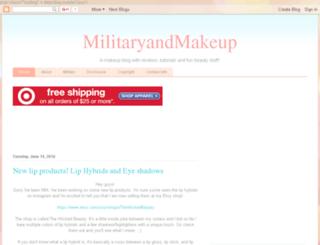 militaryandmakeup.blogspot.com screenshot
