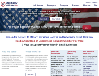 militaryhire.com screenshot