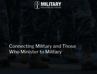 militarymissionsnetwork.com screenshot