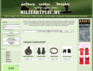 militarypiac.hu screenshot