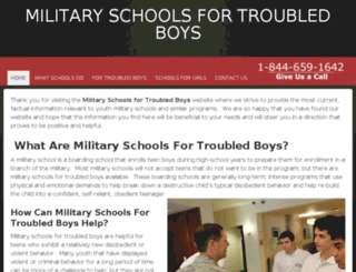 militaryschoolsfortroubledboys.com screenshot