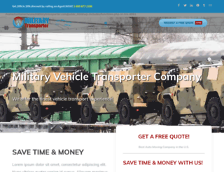 militarytransporter.com screenshot