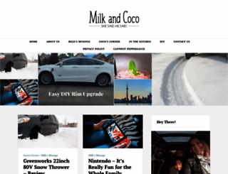milkandcoco.ca screenshot