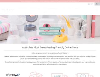 milkbarbreastpumps.com.au screenshot