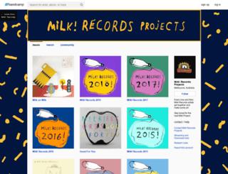 milkrecordsprojects.bandcamp.com screenshot