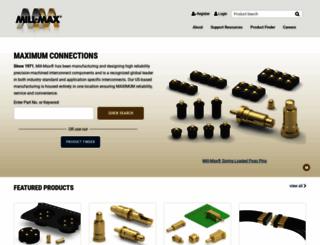 mill-max.com screenshot