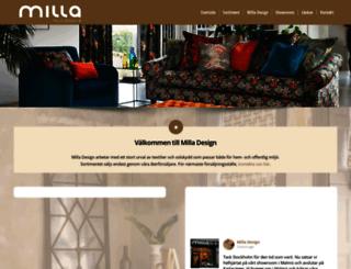 milla-design.se screenshot