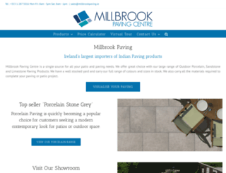 millbrookpaving.ie screenshot