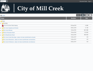 millcreek.civicweb.net screenshot
