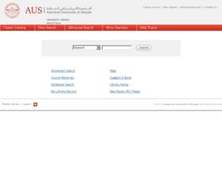 millennium.aus.edu screenshot