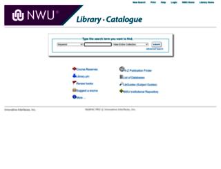 millennium.nwu.ac.za screenshot