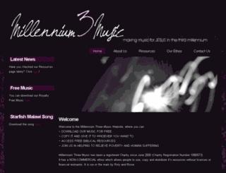 millennium3music.co.uk screenshot