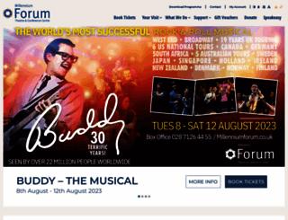 millenniumforum.co.uk screenshot