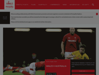 millenniumstadium.com screenshot