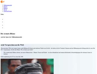 millenniumsziele.zdf.de screenshot
