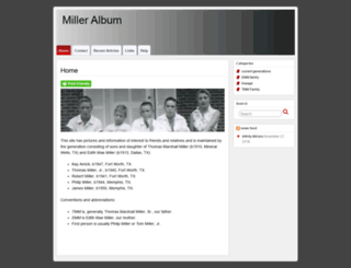milleralbum.com screenshot