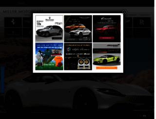 millermotorcars.com screenshot