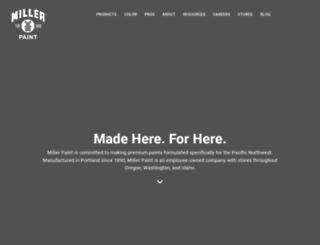 millerpaint.com screenshot