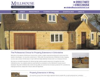 millhouseconstruction.co.uk screenshot