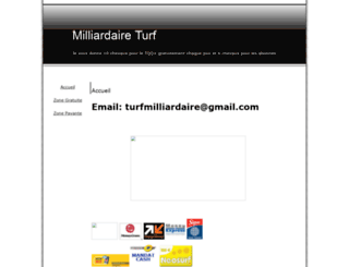 milliadaireturf.onlc.fr screenshot