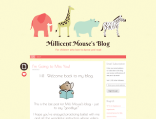 millicentmouse.wordpress.com screenshot
