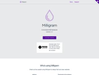 milligram.github.io screenshot