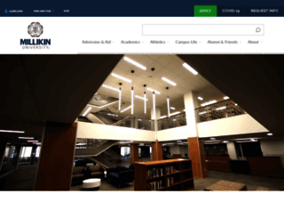 millikin.edu screenshot