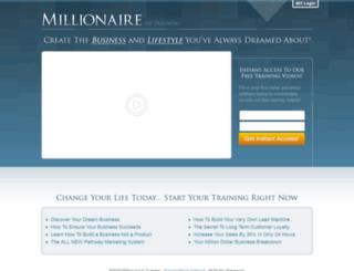 millionaireintraining.co screenshot