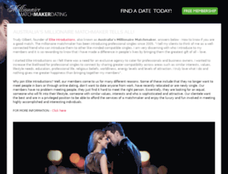 millionairematchmakerdating.com.au screenshot