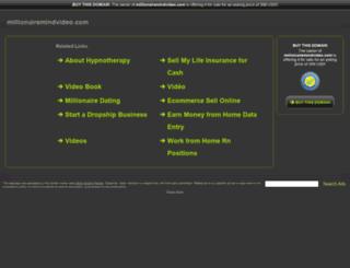 millionairemindvideo.com screenshot
