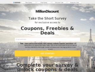 milliondiscount.com screenshot