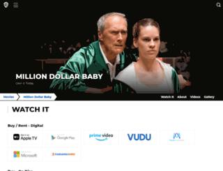 milliondollarbabymovie.warnerbros.com screenshot