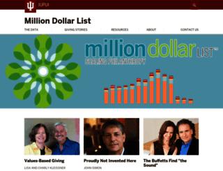 milliondollarlist.org screenshot