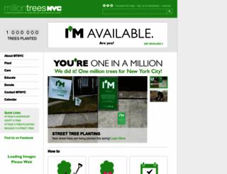 milliontreesnyc.org screenshot