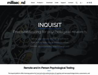millisecond.com screenshot