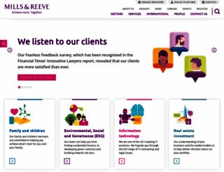 mills-reeve.com screenshot