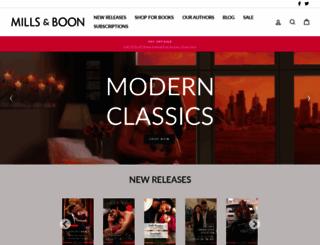 millsandboon.com.au screenshot